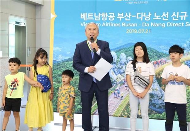 越航开通韩国釜山至越南岘港的直达航线 hinh anh 1