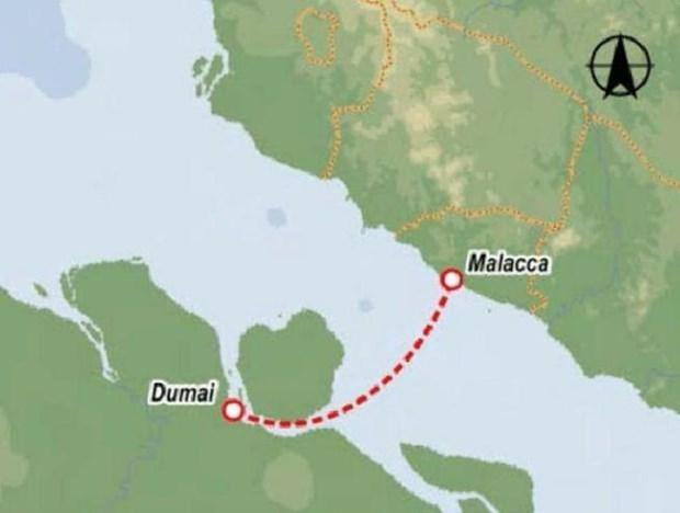 印尼杜迈-马来西亚马六甲渡轮航线拟于2020年投运 hinh anh 1