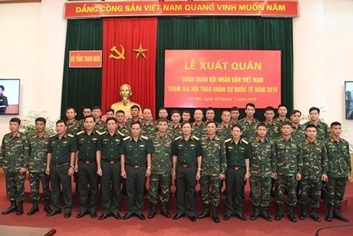 越南人民军出兵参加2019年国际军事比赛 hinh anh 2