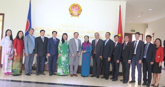 胡志明市高级代表团访问老挝 hinh anh 3