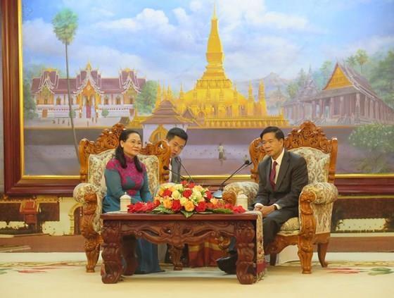 胡志明市高级代表团访问老挝 hinh anh 1