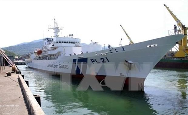日本海上警卫队小岛级训练舰抵达岘港国际港 hinh anh 2