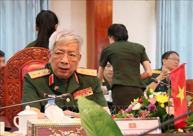 第一次越南-老挝国防政策磋商在万象举行 hinh anh 1