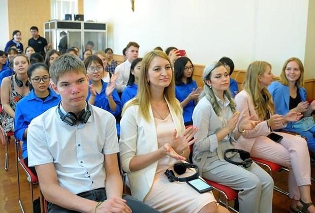 越俄两国青年共同携手培育越俄传统友好关系 hinh anh 3