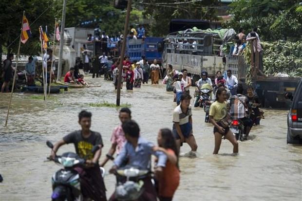特大洪水袭击 缅甸疏散撤离数千人 hinh anh 1