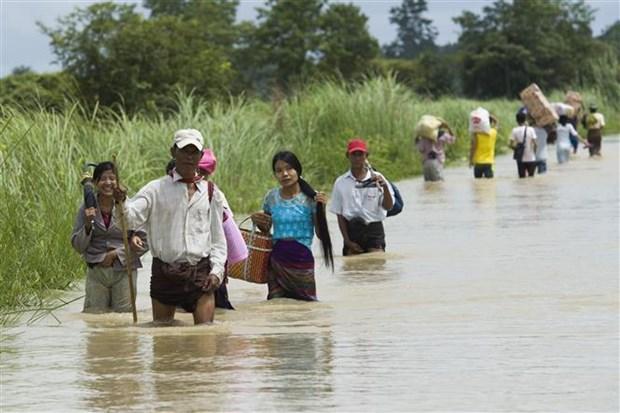 特大洪水袭击 缅甸疏散撤离数千人 hinh anh 2