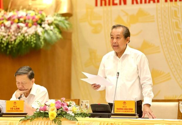 政府副总理张和平:严厉打击走私和制售假冒伪劣商品活动 hinh anh 1