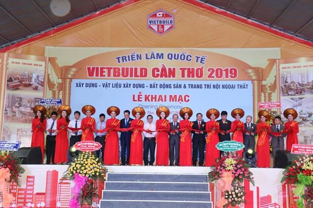 2019年芹苴市国际建筑建材及家居产品展览会正式开幕 hinh anh 1