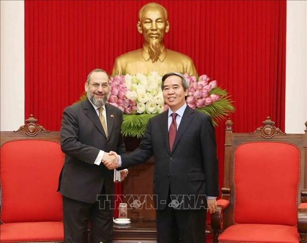 越共中央经济部部长阮文平会见美国财政部代表团 hinh anh 2
