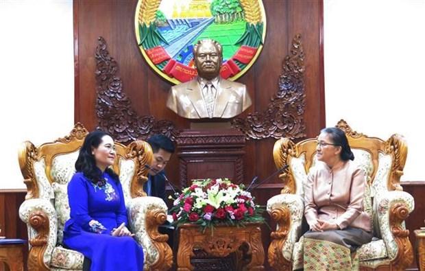 胡志明市与老挝万象市深化合作关系 hinh anh 1