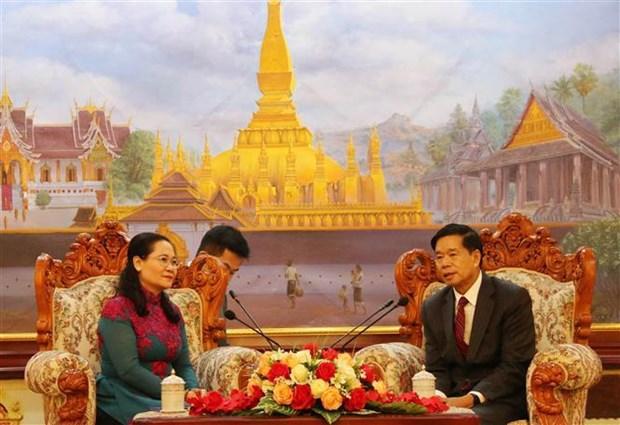 胡志明市与老挝万象市深化合作关系 hinh anh 2