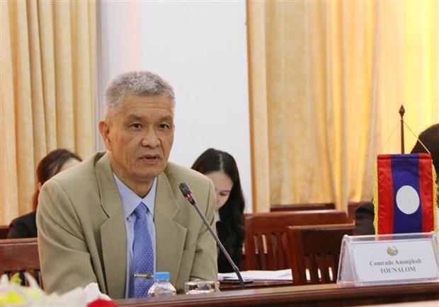 胡志明市与老挝万象市深化合作关系 hinh anh 3