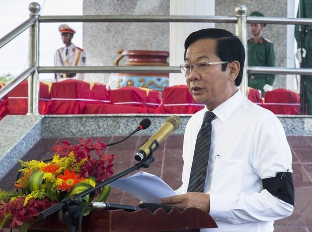 7·27伤残军人及烈士日:在柬牺牲越南烈士遗骸追掉会及安葬仪式在坚江省举行 hinh anh 2