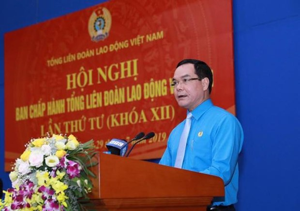 阮廷康当选越南劳动联合会主席 hinh anh 1