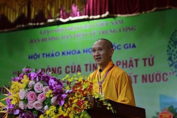 """""""佛教信徒与国家可持续发展事业"""" 国家科学研讨会 hinh anh 1"""