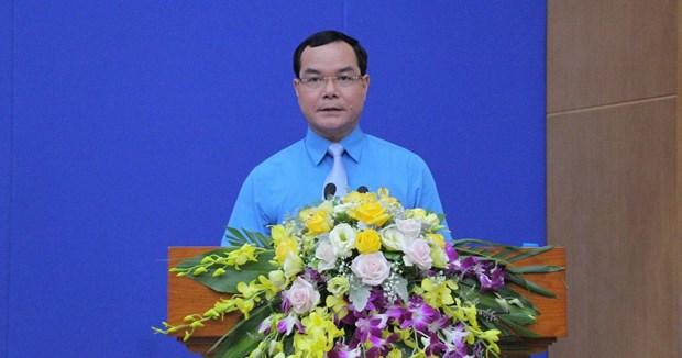 阮廷康当选越南劳动联合会主席 hinh anh 2