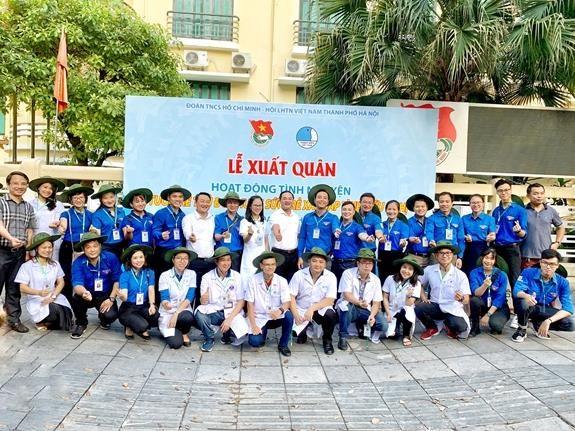 河内市与万象共同提升合作水平 助力开展青少年活动 hinh anh 1