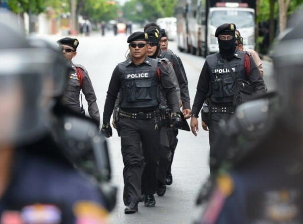 泰国警方保障第52届东盟外长会议的安全 hinh anh 1