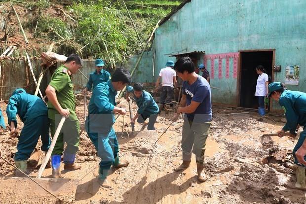 河江省黄树肥和箐门两县连日暴雨致山体滑坡受灾严重 hinh anh 1