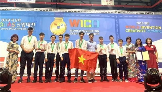 越南学生获两项世界发明创意奥林匹克大会金奖 hinh anh 1