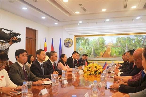 柬埔寨领导高度评价胡志明市的发展水平 hinh anh 2