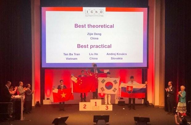 2019年国际化学奥林匹克竞赛实验试题:越南学生首次获得绝对高分 hinh anh 2