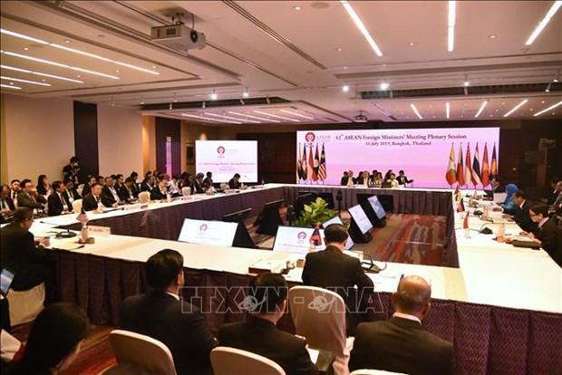 第52届东盟外长会议发表联合声明 强调维护东海和平稳定的重要性 hinh anh 1