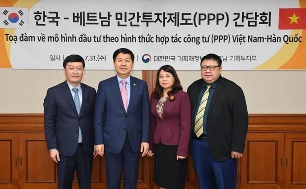 韩国同越南分享有关吸引私人资本的经验 hinh anh 1
