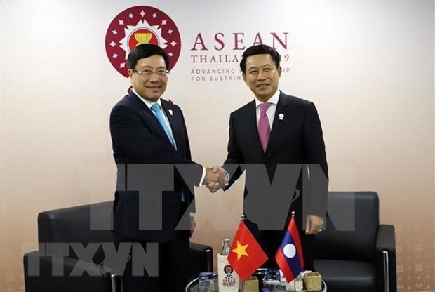 AMM-52:越南外长范平明与各国外长举行双边会晤 hinh anh 3