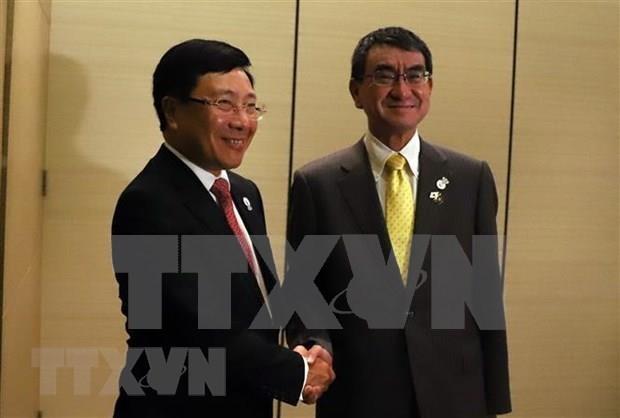 AMM-52:越南外长范平明与各国外长举行双边会晤 hinh anh 4