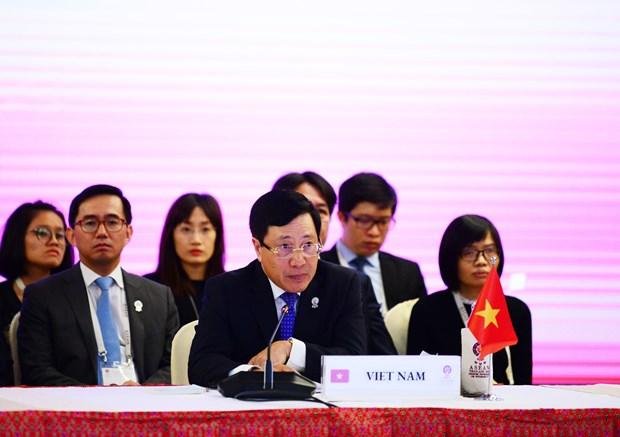 第52届东盟外长会议:东盟深化与日本的合作 hinh anh 1