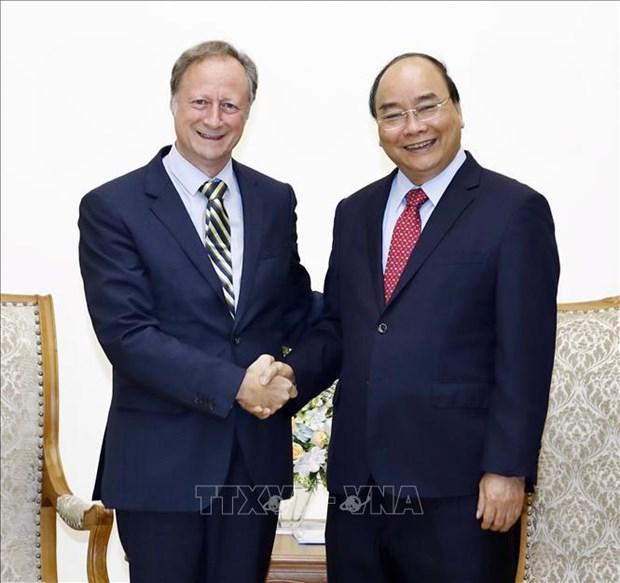 越南政府总理阮春福会见爱尔兰和欧盟客人 hinh anh 2