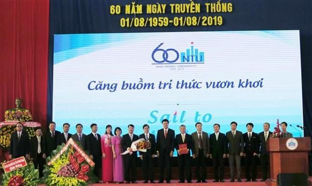 越南芽庄大学力争成为东南亚一流渔业人力资源培训基地 hinh anh 1