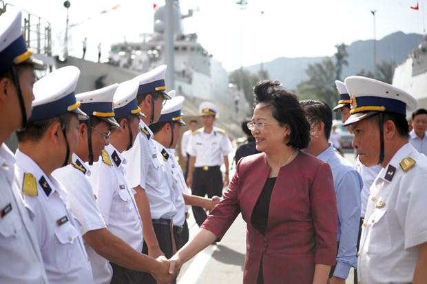 越南海军坚守岗位 捍卫祖国海洋领土主权 hinh anh 1
