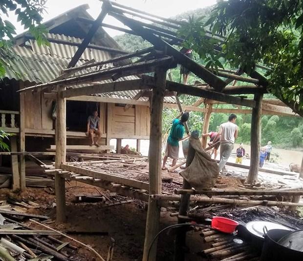 越南北部山区遭受第三号台风的袭击 hinh anh 1