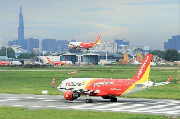越捷航空飞往亚洲各国的航线推出特价机票 hinh anh 1