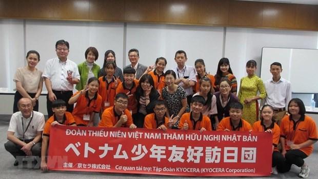 友好访问日本之旅给越南少年留下难忘的体验 hinh anh 1