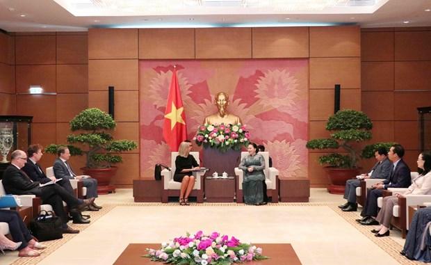 越南国会主席阮氏金银会见欧洲委员会副主席费德丽卡•莫盖里尼 hinh anh 1
