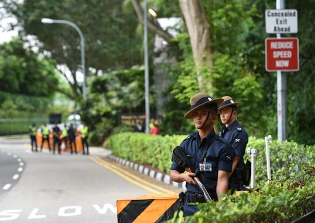 新加坡加强国庆庆典期间安保措施 hinh anh 1