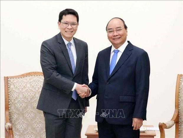 越南政府总理阮春福会见泰国央行行长 hinh anh 1
