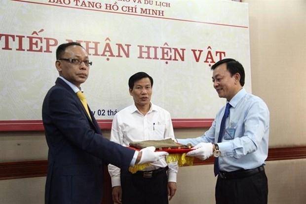胡志明博物馆接收胡志明主席送给王志生的纪念物 hinh anh 1