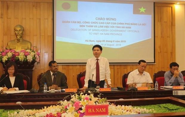 孟加拉国高级干部代表团了解越南河南省投资促进工作的经验 hinh anh 3
