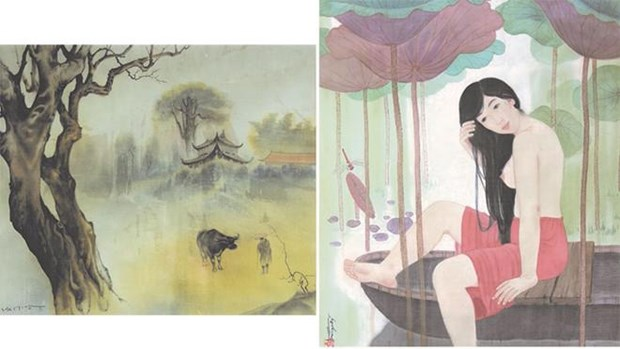 越南北-南著名画家相遇 让自然与艺术有机融合 hinh anh 1