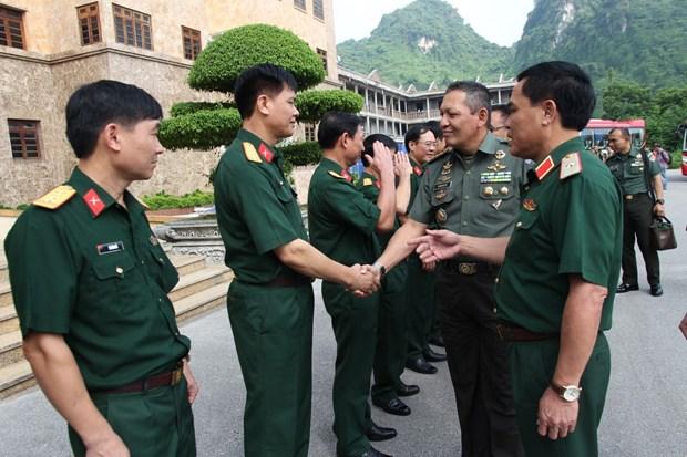 印尼军官代表团访问越南第一军区 hinh anh 1
