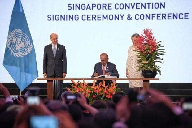 46国签署《联合国关于调解达成的国际和解协议公约》 hinh anh 1