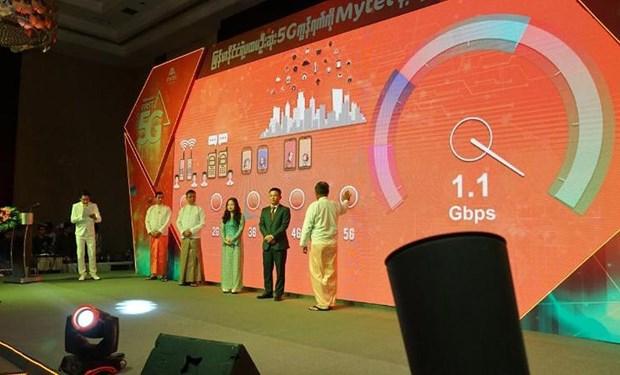 越南军队电信工业集团 5G技术正式亮相缅甸 hinh anh 1