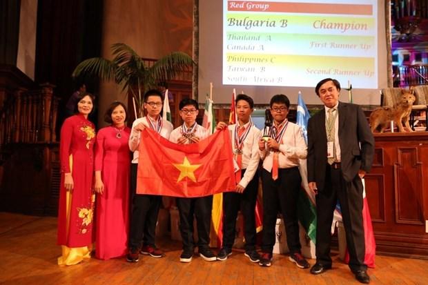越南代表队在2019年第20届IMC国际数学竞赛中取得骄人的成绩 hinh anh 1