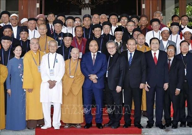 阮春福:宗教的利益与国家和民族的利益并存 hinh anh 1