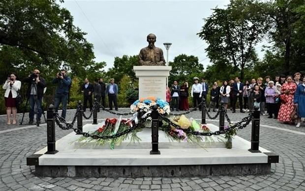 """设在俄罗斯鲍里先科街上的花园正式以""""胡志明主席""""为名 hinh anh 1"""