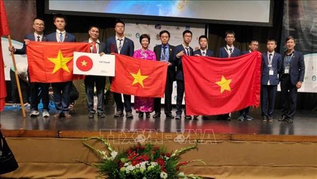 越南学生获得2019国际天文学和天体物理学奥林匹克竞赛金牌 hinh anh 1
